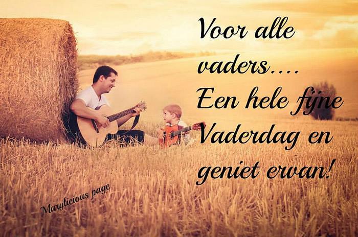 Voor alle vaders... Een hele fijne Vaderdag en geniet ervan!
