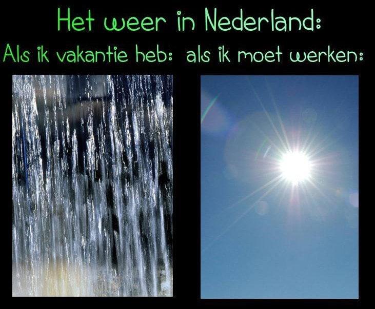 Het weer in Nederland: Als ik vakantie heb... als ik moet werken... Plaatjes