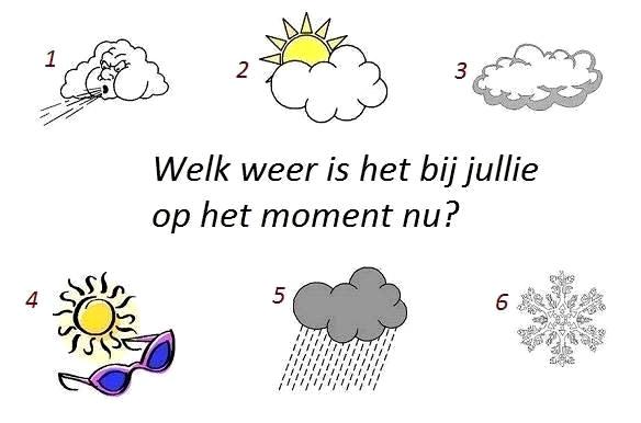 Welk weer is het bij jullie op het moment nu?