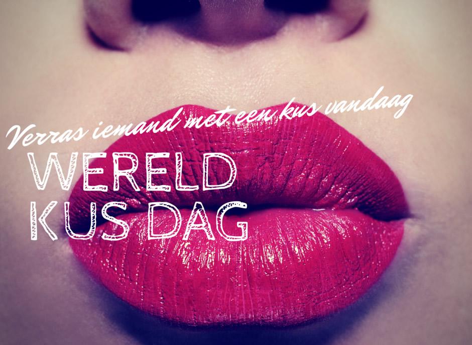 Verras iemand met een kus vandaag. Wereld Kus Dag.