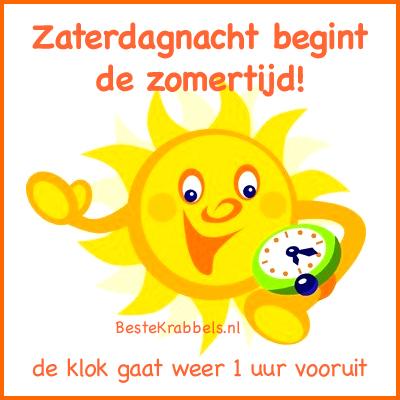 Zaterdagnacht begint de zomertijd! de klok gaat weer 1 uur vooruit